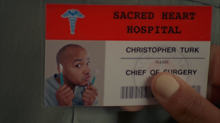 8x17 Turk's second name badge
