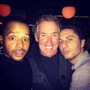 Zach Braff 2014 instagram with Donald and John