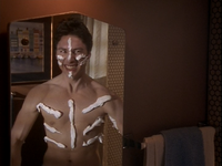 1x1 J.D. shaving cream mirror