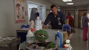 8x5 Janitor pushes Oscar