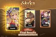 Event 05 20 2019 Final Results for Sdorica's Character Popularity Poll