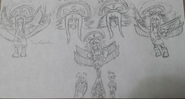 Xaya True Form Sketches