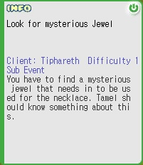 Look for Mysterious Jewel Quest