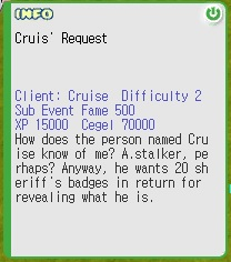 Cruise's Request Quest