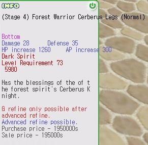 Dark Spirit Armor/Cerberus