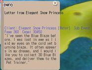 Letter from Elegant Snow Princess