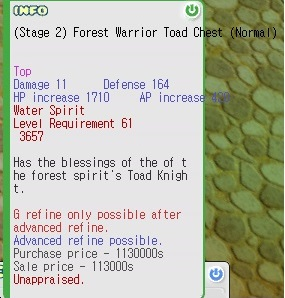 (Stage 2) Forest Warrior Toad Chest