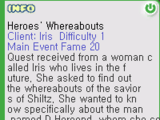 Whereabouts of Heroes Quest