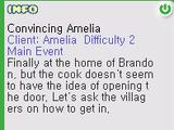 Convincing Amelia Quest