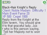 Tavern Black Hair Knight Quest