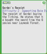 Gardel Receipt