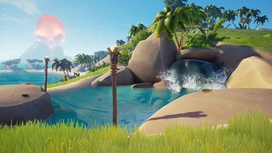 La piscina de roca