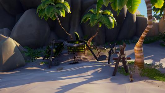 El campamento de la playa