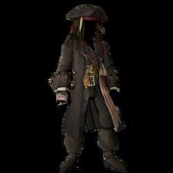 Captain Jack Sparrow Classic Costume (No beard).png