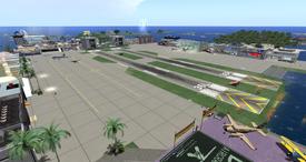 Hollywood Airport, looking NE (8-10-13)