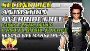 Second Life Animation Override Free ★ Vista Animation Casual 1 Basic AO Free