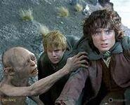 Sam, Frodon et Gollum