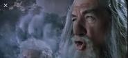 Gandalf avec navire en fumée