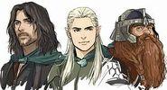 Aragorn Legolas et Gimli