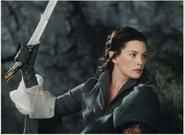 Arwen fuyant les cavaliers