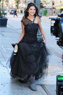 Ws black dress making off.- (2)