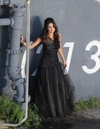 WS black dress selena wall (3)