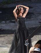 Who says selena black dress making off.-
