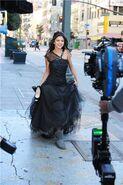Ws black dress making off.-