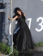 WS black dress selena wall (2)