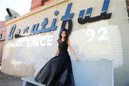 Who says selena sit down black dress