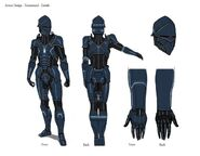 Armor Design Turnaround white by kyllian-guillart