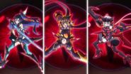 Tsubasa, Hibiki and Chris Ignite transformation