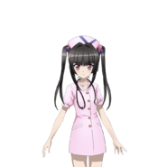 Shirabe's Nurse Costume Art
