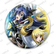 Nanoha Collabo Badges Tsubasa & Fate After Awakening
