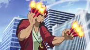 Genjuro catches rockets