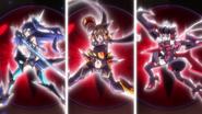 Hibiki & Tsubasa & Chris' Ignite transformation (Phase Albedo) 07