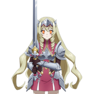 Jeanne d'Arc being controlled Armor Form with Sword