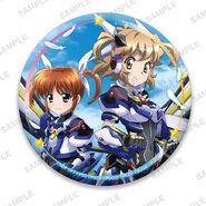 Nanoha Collabo Badges Hibiki & Nanoha Before Awakening