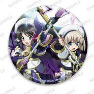 Nanoha Collabo Badges Miku & Hayate After Awakening