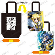 Nanoha Collabo Tote Bag Tsubasa & Fate