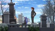 Tsubasa and Genjuro at the Kazanari grave 01