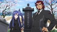 Tsubasa and Genjuro at the Kazanari grave 02