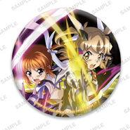 Nanoha Collabo Badges Hibiki & Nanoha After Awakening