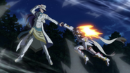 Adam stops Hibiki's punch