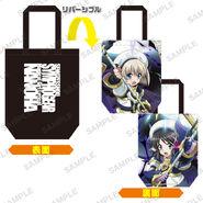 Nanoha Collabo Tote Bag Miku & Hayate