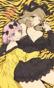 Haruka x Hibari cuddling