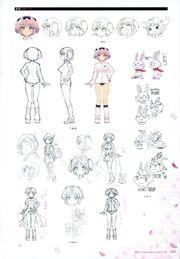 Yande.re 460723 sample buruma character design expression gym uniform hibari (senran kagura) line art senran kagura yaegashi nan