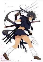 Yande.re 460732 sample homura (senran kagura) seifuku senran kagura sword weapon yaegashi nan