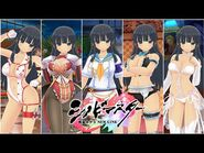 Todas las animaciones con Ikaruga en Senran Kagura- New Link (Seiyuu- Asami Imai)