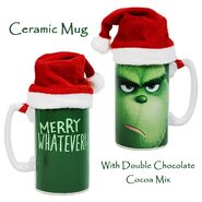 0002227 dr seuss the grinch tall mug with santa hat